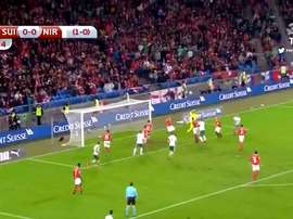 Evans almost scored in stoppage time. Twitter/ODSports