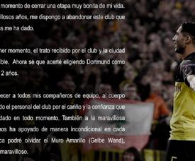 Achraf Hakimi said goodbye to Dortmund. Twitter/AchrafHakimi