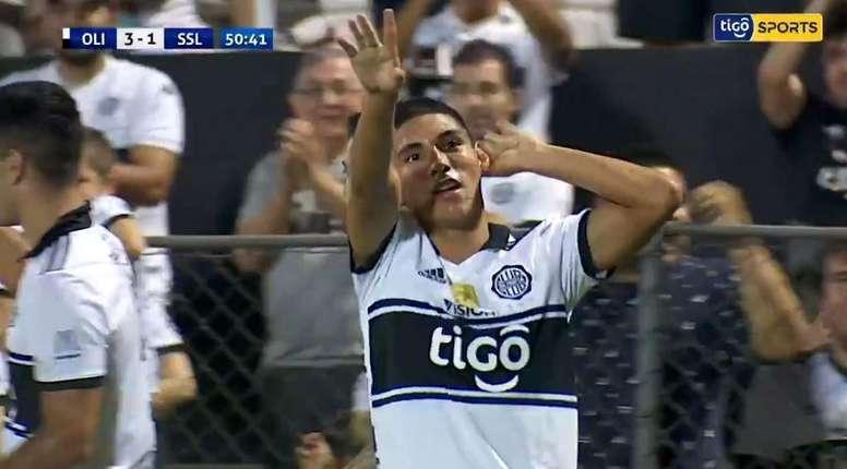 Paraguay se ilusiona: tiene 17 años y va a gol por partido. Captura/TigoSports