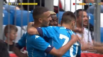 Osimhen anotó un fantástico doblete. Captura/SPORTTV3