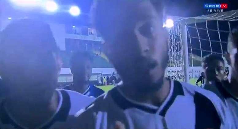 Miranda dio ejemplo con su celebración. Copa Ipiranga Sub 20
