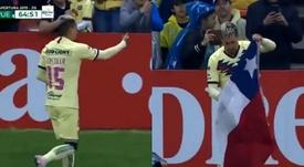 El gran gesto de Nico Castillo con el pueblo chileno tras su gol. Captura/TUDN