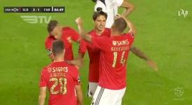 El Benfica se sube a lomos de Seferovic para seguir inmaculado. Captura/BenficaTV