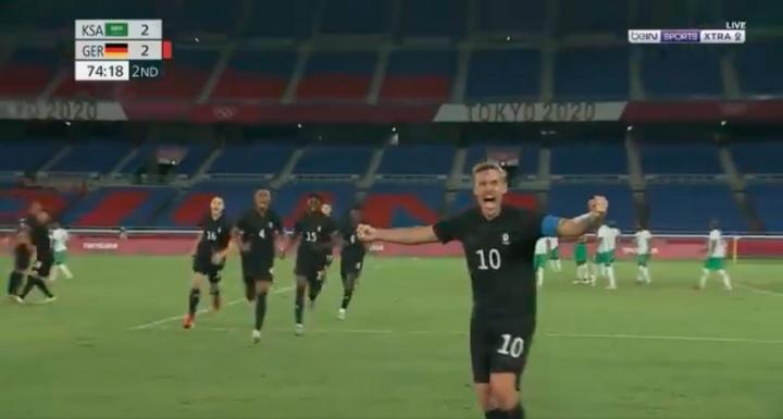 Arabia Saudí, primera selección eliminada de los Juegos Olímpicos. Captura/beINSPORTS