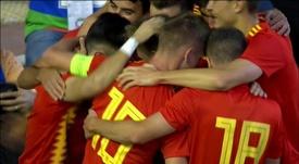 Manu García estrenó su titularidad con obús. Captura/FútbolMediaset