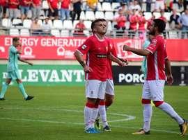El Murcia no ha logrado pasar del empate a cero en Jumilla. RealMurcia/Archivo