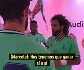 Marcelo a remotivé ses troupes. Capture/RealMadridTV