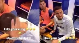 Dele slapped Doherty. Captura/Instagram/Dele