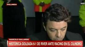 Gallardo habló de supremacía y voracidad tras el 1-6. Captura/ESPN