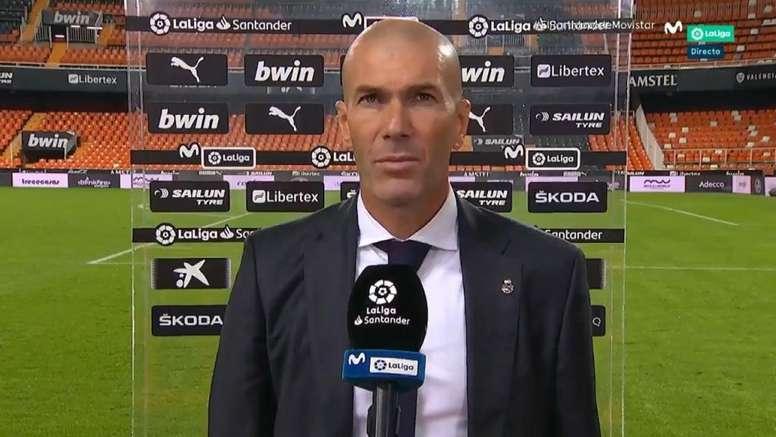 Zidane commenta la gara. Movistar+