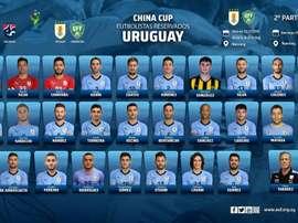 La liste de l'Uruguay. Twitter/Uruguay