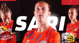 Sari Van Veenendaal firma con el PSV. PSV/Captura
