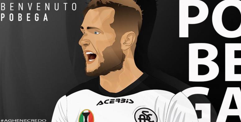 Pobega, nuevo jugador del Spezia. Captura/ACSpezia
