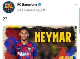 Fotomontaggio degli hackers con il ritorno di Neymar. FCBarcelona