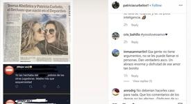 La pareja de jugadoras del Dépor que recibió insultos en redes. Instagram/patriciacurbeloo1
