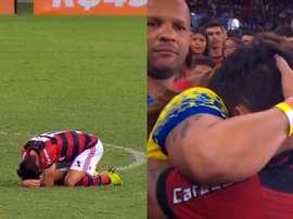 Captura de la despedida de Lucas Paquetá del Flamengo. Captura/Globoesporte