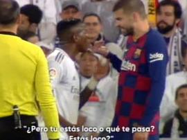 Piqué vs. Vinicius. Capture/MovistarLaLiga