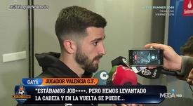 Los discursos de Gayá y Parejo: el Valencia cree en la remontada. Captura/MEGA/El Chiringuito
