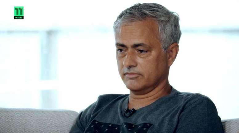 Mourinho recordó su etapa como entrenador del Madrid. Captura/Canal11