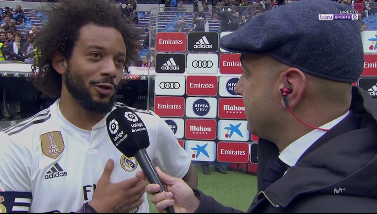 Marcelo garantiu que o Real Madrid é a sua casa. Captura/beINSports