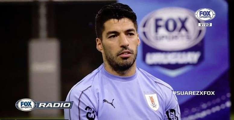 Suárez habló sobre la operación de su rodilla. Captura/FOXSports