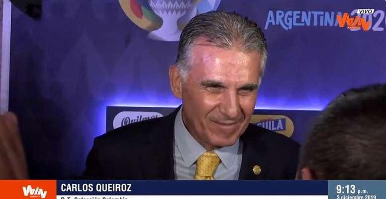 Queiroz habló tras el sorteo. Captura/WinSports