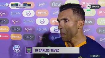 La rajada de Tévez sobre el estilo. Captura/TNTSports