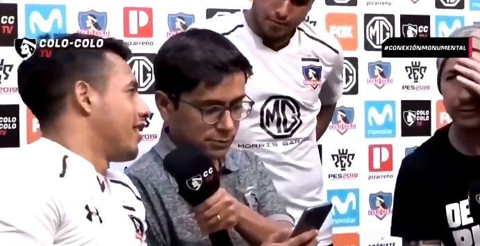 Iván Morales cargó contra el rival. Captura/Colo-ColoTV