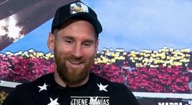 Así es el Messi de estar por casa: sus hijos, su perro... y sus manías. Captura/MarcaTV