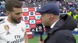 Nacho habló tras el partido. Captura/beINSports