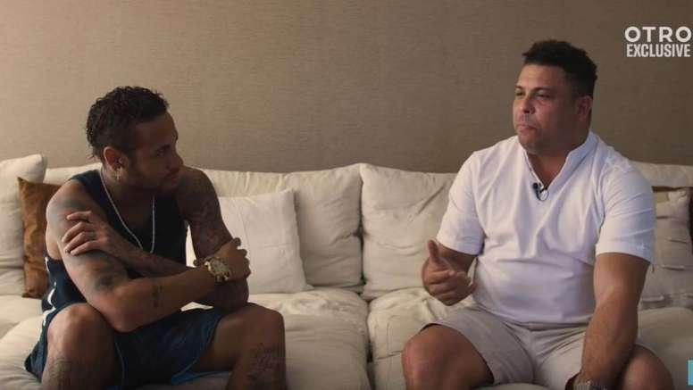 Ronaldo évoque les plongeons de Ney. Capture/Otro