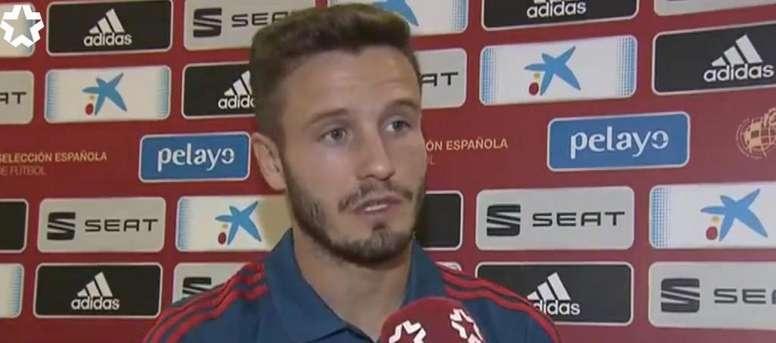 Saúl defendió a Simeone. Captura/Telemadrid