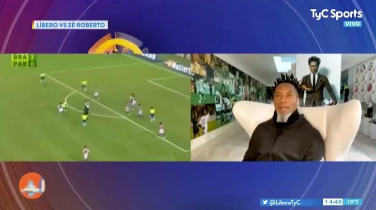 Zé Roberto siempre quiso jugar en Boca. Captura/TyCSports