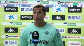 Joel habló del arbitraje tras el partido. Captura/Movistar+