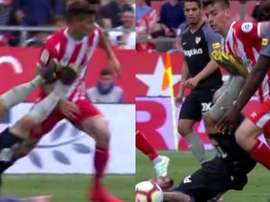 Ever Banega was dismissed for lashing out at Pere Pons. Capturas/beINSports