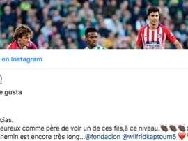 le joueur du Bétis a été félicité par Eto'o. Instagram/SamuelEto'o