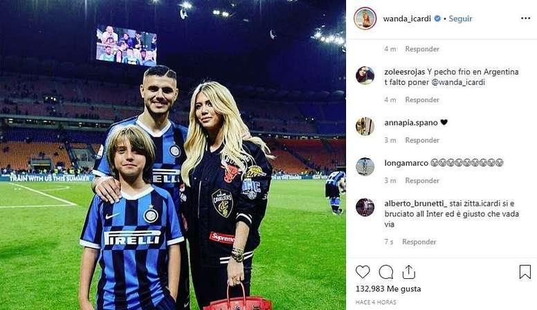 Wanda Nara difende Icardi. Instagram/Wanda_Icardi