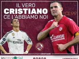El club italiano bromeó con el nombre de su nuevo entrenador. Livorno