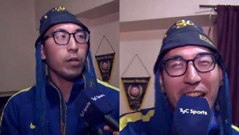 Los hinchas de Boca acusan al japonés 'xeneize' de gafe. Captura/TyCSports