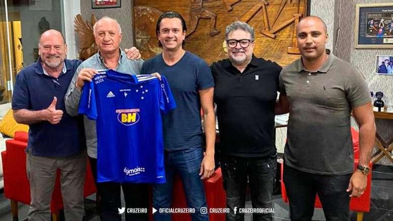 Scolari, nuevo técnico de Cruzeiro: un histórico rumbo a la deriva. Twitter/Cruzeiro
