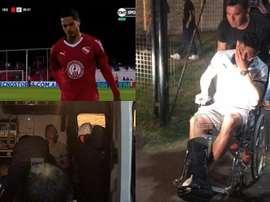 Noche negra para Independiente en cuanto a las lesiones. Captura/ESPN