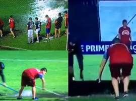 Situación surrealista en el Campeonato Paraguayo. Captura/TigoSports