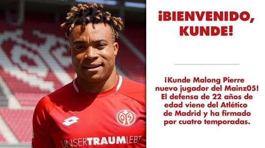 Pierre Kunde firmó por el conjunto alemán. Mainz05