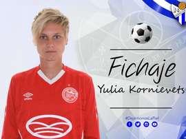 La entidad hizo el fichaje de Yulia Kornievets. SportingHuelva