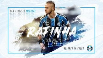 Rafinha foi apresentado oficialmente pelo Grêmio. Twitter/Gremio
