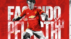 OFICIAL: Facundo Pellistri y Amad Diallo, apuestas de futuro del United. Twitter/ManchesterUtd
