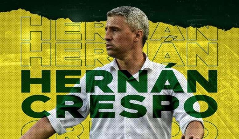 Defensa y Justicia apresentou Hernán Crespo como seu novo treinador. DefensayJusticia