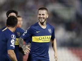 Benedetto veut marquer contre River. Twitter/BocaJuniors