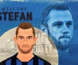 Stefan De Vrij chega para reforçar o sistema defensivo da Inter. Twitter/Inter