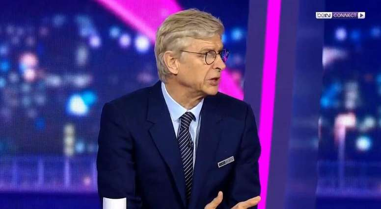 Wenger was critical of Barcelona's play after their draw with Slavia Prague. Captura/beINSports